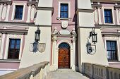 pic of city hall  - City hall exterior in Main Market Square in Zamosc city center - JPG