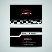 business card for transportation car racing sport and Car wash poster