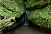 stock photo of cataract  - Cataract Falls on a stream in the Big South Fork National Recreation Area - JPG