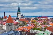 foto of olaf  - Aerial view of Tallinn Medieval Old Town with St - JPG