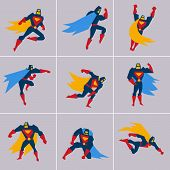 stock photo of superhero  - Superhero in Action - JPG