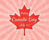 foto of canada maple leaf  - Happy Canada Day on Maple Leaf - JPG