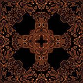 pic of celtic  - Abstract metallic bronze viking or celtic like pattern made seamless - JPG