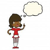 stock photo of maids  - cartoon maid with thought bubble - JPG