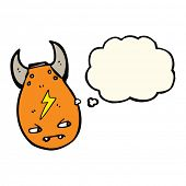 foto of bomb  - cartoon bomb with thought bubble - JPG