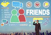 image of comrades  - Friends Group People Social Media Loyalty Concept - JPG