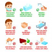 stock photo of viral infection  - MERS and other virus infections prevention methods infographics - JPG