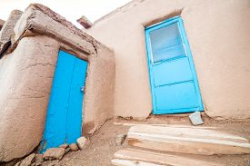 stock photo of pueblo  - Adobe settlement  - JPG