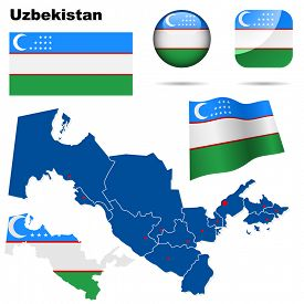image of crescent-shaped  - Uzbekistan set - JPG