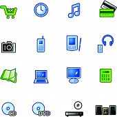 Colourful E-Shop Icons