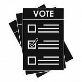 Election Paper Icon. Simple Illustration Of Election Paper Vector Icon For Web Design Isolated On Wh poster