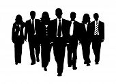 stock photo of person silhouette  - Business team - JPG
