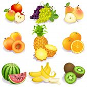 Vector illustration - set of fruits icons