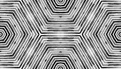 Black And White- Geometric Watercolor. Actual Seamless Pattern. Hand Drawn Stripes. Brush Texture. P poster