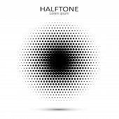 Vector Halftone Circles. Abstract Halftone. Abstract Dots. Vector Illustration. poster