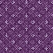 stock photo of fleur de lis  - fleur de lis seamless pattern - JPG