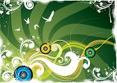 image of summer fun  - Summer abstraction with birds - JPG