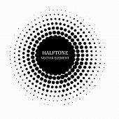 Circle Halftone. Abstract Halftone Background. Vector Illustration. Black Circles. poster