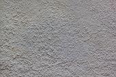 Gray Plastered Handmade Rough Wallpaper. Beautiful Decorative Gray Plastered Wall. Rough Texture. poster