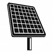 Solar Panel Icon. Simple Illustration Of Solar Panel Vector Icon For Web Design Isolated On White Ba poster