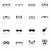 Icons set gafas