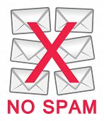 foto of no spamming  - No spam mail warning sign - JPG