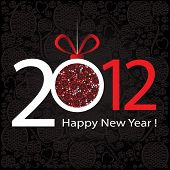 picture of new years  - 2012 Happy New Year greeting card or background - JPG