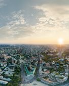 Panorama Of The Center Of Kiev City At Sunset. View Of St. Sophia Cathedral poster