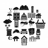 Warm House Icons Set. Simple Set Of 25 Warm House Vector Icons For Web Isolated On White Background poster