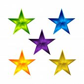 Collection Of Star Color Vector Logo, Star Abstract Color Icon, Star Rating, Ranking. The Astrologic poster