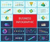 Business Inforgraphic Design Set For Management Concept. Can Be Used For Business Project, Annual Re poster