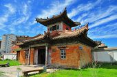 picture of bator  - Traditionnal Buddhist monastery in Ulan Bator - JPG