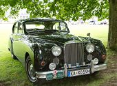 BADEN-BADEN, GERMANY - JULY 13:   A JAGUAR (1960)  at The International Exhibition of old cars