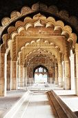 stock photo of khas  - Hall of Private Audience or Diwan I Khas at the Lal Qila  - JPG