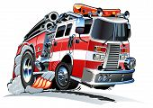 picture of big-rig  - Vector cartoon firetruck - JPG