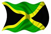 pic of jamaican flag  - Flag of Jamaica isolated on a white background - JPG
