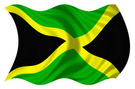 image of jamaican flag  - Flag of Jamaica isolated on a white background - JPG