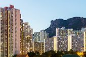 picture of overpopulation  - Kowloon at night - JPG