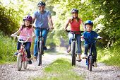 picture of mums  - Family On Cycle Ride In Countryside - JPG