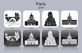 stock photo of mona lisa  - Landmarks of Paris - JPG