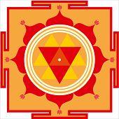 stock photo of kali  - Sacred Hindu yantra of Shrimati Durga Devi - JPG