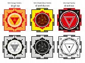stock photo of dharma  - Sakred Hindu yantras of the Goddess forms - JPG