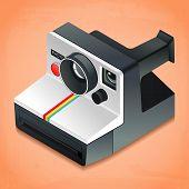 image of mm  - vector illustration of instant camera - JPG