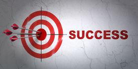 picture of archery  - Success finance concept - JPG