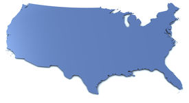 stock photo of usa map  - Very large rendering of a US map - JPG