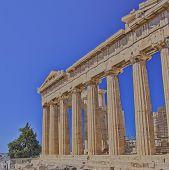 picture of akropolis  - Parthenon ancient doric order temple - JPG