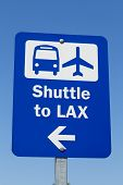 picture of lax  - An Airport Shuttle Sign to LAX - JPG