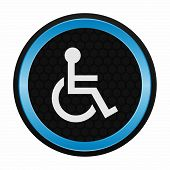 image of wheelchair  - Wheelchair person icon as a symbol of wheelchair person - JPG