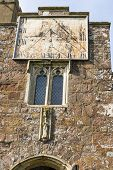 pic of sundial  - A sundial on the front of St Matthew - JPG