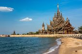 picture of buddhist  - The wooden sanctuary of truth - JPG